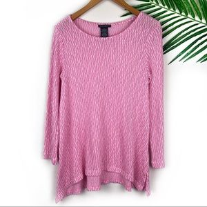 Chelsea & Theodore Pink Knit Sweater Tunic Small
